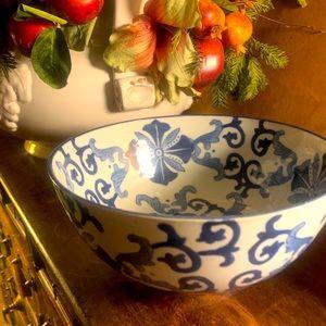 Wisteria Heavy Porcelain Chinoiserie Bowl